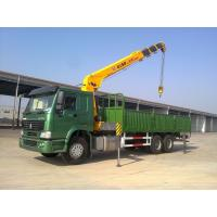 Quality 12 Tons XCMG Truck Mounted Telescopic Crane , Howo 10 Wheel High Up Truck Mounted Cranes for sale