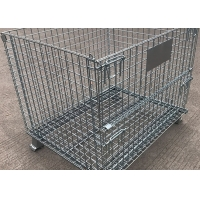 Quality 500kg Pallet Stacking SGS Collapsible Wire Mesh Container Customize Warehouse Equipment for sale