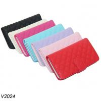 Quality Grain Leather Pouch Case Leather Purse HandBag Leather Wallet Case for iPhone 6 for sale