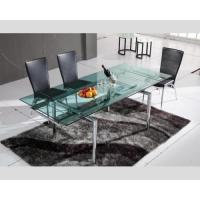 Quality Dining Set Hd-103a Furniture Table And Chairs Smooth Glass Table Top Surface , Dining Table , Dining Chair for sale