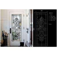 Buy cheap Energy Saving Decorative Art Glass Window Panels , Embroidered Inlay Glass Sheets from wholesalers