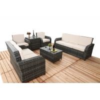 Quality 6 PCS Chair Back Adjustable Rattan Sofa Set With Powder Coated Steel Frame for sale
