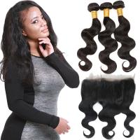 Quality Thick 360 Lace Frontal Closure , Lace Front Closure Human Hair Non - Remy Hair for sale