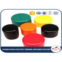 Quality Colorful PVC Plastic Pipe End Caps , Round Threaded Tube End Covers OEM / ODM for sale