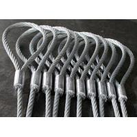 Quality Heavy Duty Machine Swaged Soft Loop Wire Rope Slings with Galvanized Surface for sale