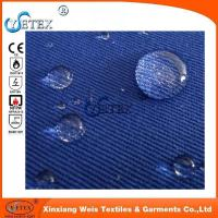 China 100 Cotton Twill Water Oil Repellent Fireproof Cloth Material Arc Flash Protective on sale