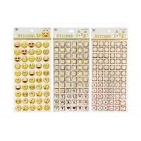 Quality Adhesive Kids Sticker Printing Smily Face Emoji Or Letter Symbols Patten for sale