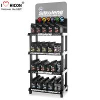 Quality 4-Layer Engine Oil Metal Display Racks Automotive Products Motor Oil Display Shelf for sale