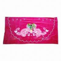Quality 100%cotton reactive printed children beach towel for sale