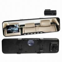 Quality Rearview Mirror Car DVR, Double Lens with External One for sale