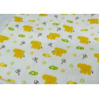 China Waterproof Fresh And Lovely 160gsm Organic Flannel Fabric on sale