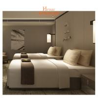 Quality Villa Furniture Hotel Twin Beds Environmental Friendly Lacquer for sale