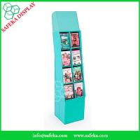 China 8 pockets Paper material book shelf cardboard point of sale display shelves for retail stores on sale