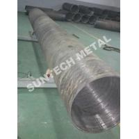 Quality UNS N04400 Nickle Alloy and Carbon Steel Clad Pipe For Chemical Process Equipment for sale
