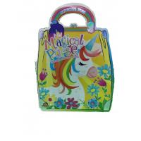 Quality Custom gluing Bound Coloring Book Printing ,unicorn purse book printing for sale