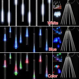 Quality led meteor shower rain tube lights for sale