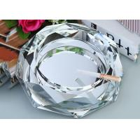 Quality Clear Crystal Home Decorations Crafts Ashtray With Cigar Holders Custom Size for sale