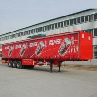 Quality Soft Curtain Semi-trailer with 30,480kg Rated Payload and 3 Axle Number for sale