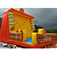 Quality Egyptian pyramids Cleopatra Mummy Themed Inflated Fun Games / Inflatable Climbing Wall for sale
