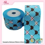 Quality 2 Inch Custom Printed Grosgrain Ribbon ,  Heart Shape Printed Designer Grosgrain Ribbon for sale