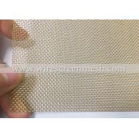 Quality Brass Plain Weave Copper Wire Cloth , High Stability Woven Copper Mesh Customized for sale