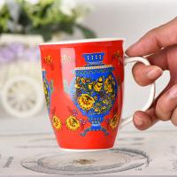 China Custom Logo Drum Cup Ceramic Travel Coffee Mugs Advertising Promotional Gifts on sale