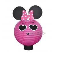 Quality Cartoon Animal Handmade Paper Lantern With A Battery Indoor Hanging for sale
