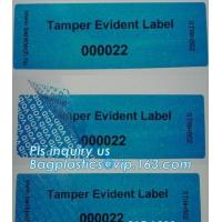 Buy Void Hologram labels stickers,sliver tamper evident security VOID label,adhesive moon rock pre cotton size label roll vo at wholesale prices