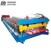 Quality Galvanize Aluminium Iron Color Steel Roll Forming Machine 8-12/Min Working Speed for sale