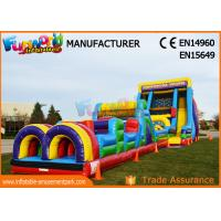 Buy cheap 0.55mm PVC Tarpaulin Commercial Blow Up Slide‎ / Vertical Rush Inflatable from wholesalers