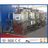 China 10 m³/H Flow Rate 1000L CIP Cleaning System For Milk Processing Plant ISO 9001 / SGS / CE on sale