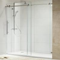 Quality 304 Stainless Steel Sliding Glass Free Standing Shower Enclosure for sale