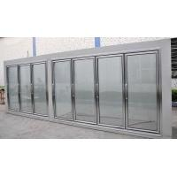 Quality Supermarket giass door cold storage room frozen food upright display refrigerator for sale