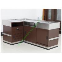 Buy cheap Grocery Store Checkout Cash Register Wrap Counter Steel Coffee Reception Counter from wholesalers