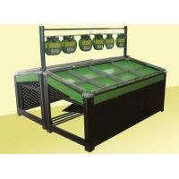 Quality Metal Frame Shelf Green Paint Fruit and Vegetable Rack Display Stands for Supermarket for sale