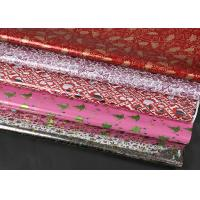 Quality Extra Wide Foil Wrapping Paper Rolls Luxury Yellow Red Coloured Decorative Aluminized for sale