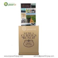 Quality Cardboad Advertising Standee for Wine, Corrugated Cardboard Wine Display Shelf for sale