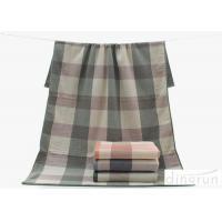 China Plain Pattern Compact Soft Terry 100 cotton bath towels For Children / Adults , 70*140cm on sale