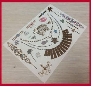 Quality Body jewel metallic temporary tattoo sticker for sale