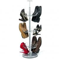 Quality Carbon Steel Or SS 304 Home Wire Shelving White Boot Shoe Rack Vertical Storage 15 Shoes for sale