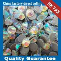 Quality SS 16 AB Crystal Clear Round Heat Transfer Flat Back Wholesales Hotfix Rhinestone For Sale for sale