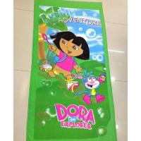 Quality china factory custom design rectangle sublimation photo printed beach towel microfiber for kids for sale