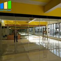 China Flexible Mirror Movable Partition Walls Folding Sliding Partition With Mirror For Art Gallery on sale