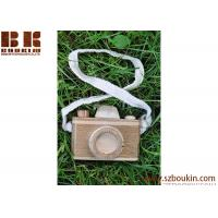 Quality Cute Wooden craft camera for children eco friendly kids wooden mini toy camera for sale