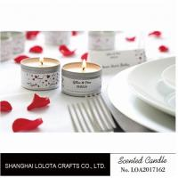 Quality Silver And Golden Color Beautiful Scented Candles , Soy Wax Small Tin Candles for sale