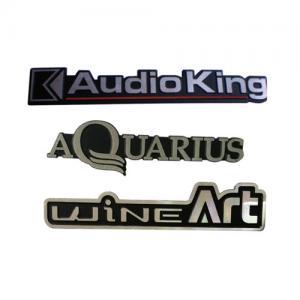 China Laser Logo Aluminum Custom Embossed Metal Tags Metal Display Sticker Tags on sale