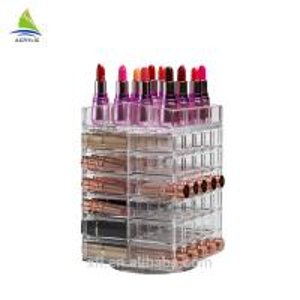 China Fashion Lipstick Makeup Acrylic Lipstick Display Box High Hardness For Storage on sale