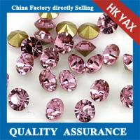 Quality china factory price rose round point back rhinestone,point back round rhinestone loose rhinestone chaton for sale
