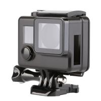 Quality Black Side Open Protective Housing Case For GoPro Hero 3 4 3+ Professional Skeleton Protector Cover Go 4 Pro Accessories for sale