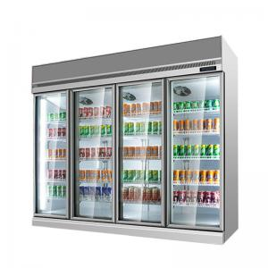 Quality Supermarket Milk Beverage Refrigerated Showcase With Digital Temperature Controller for sale